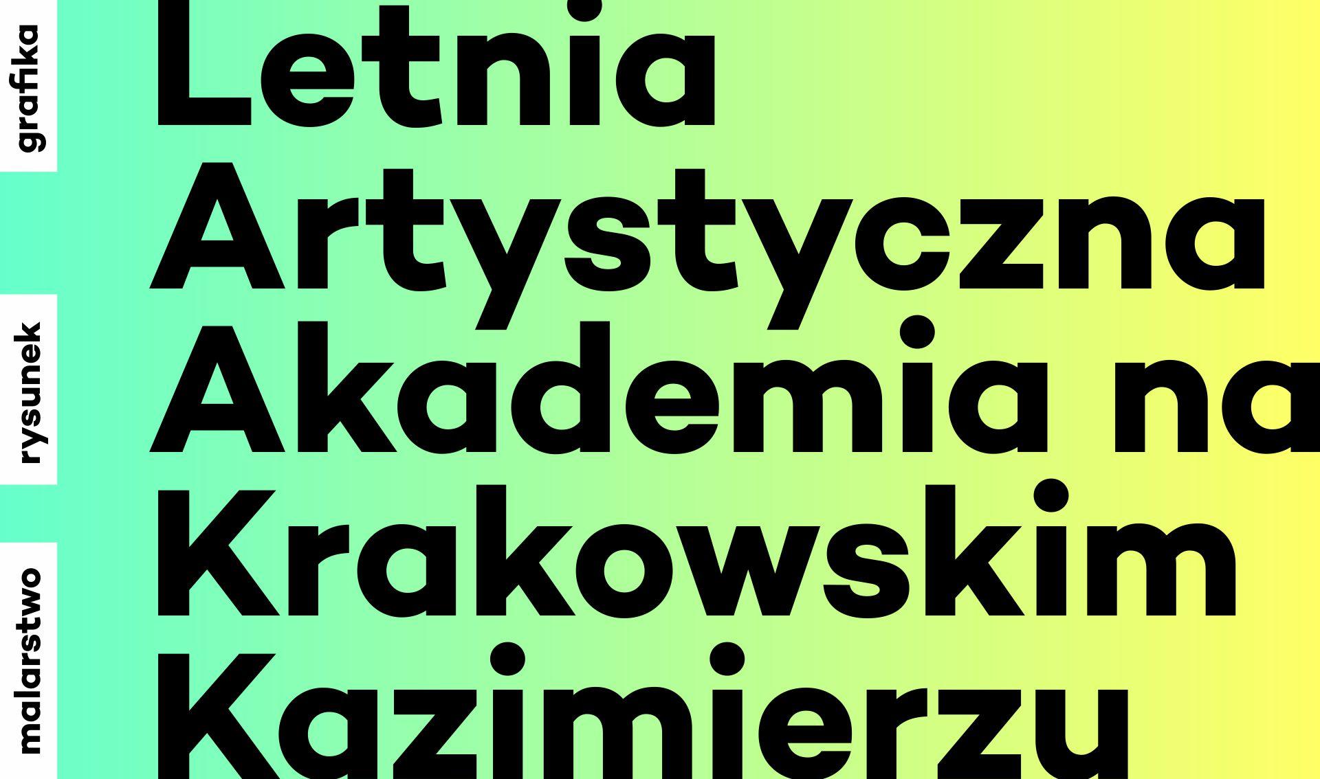 Letnia Artystyczna Akademia na Krakowskim Kazimierzu